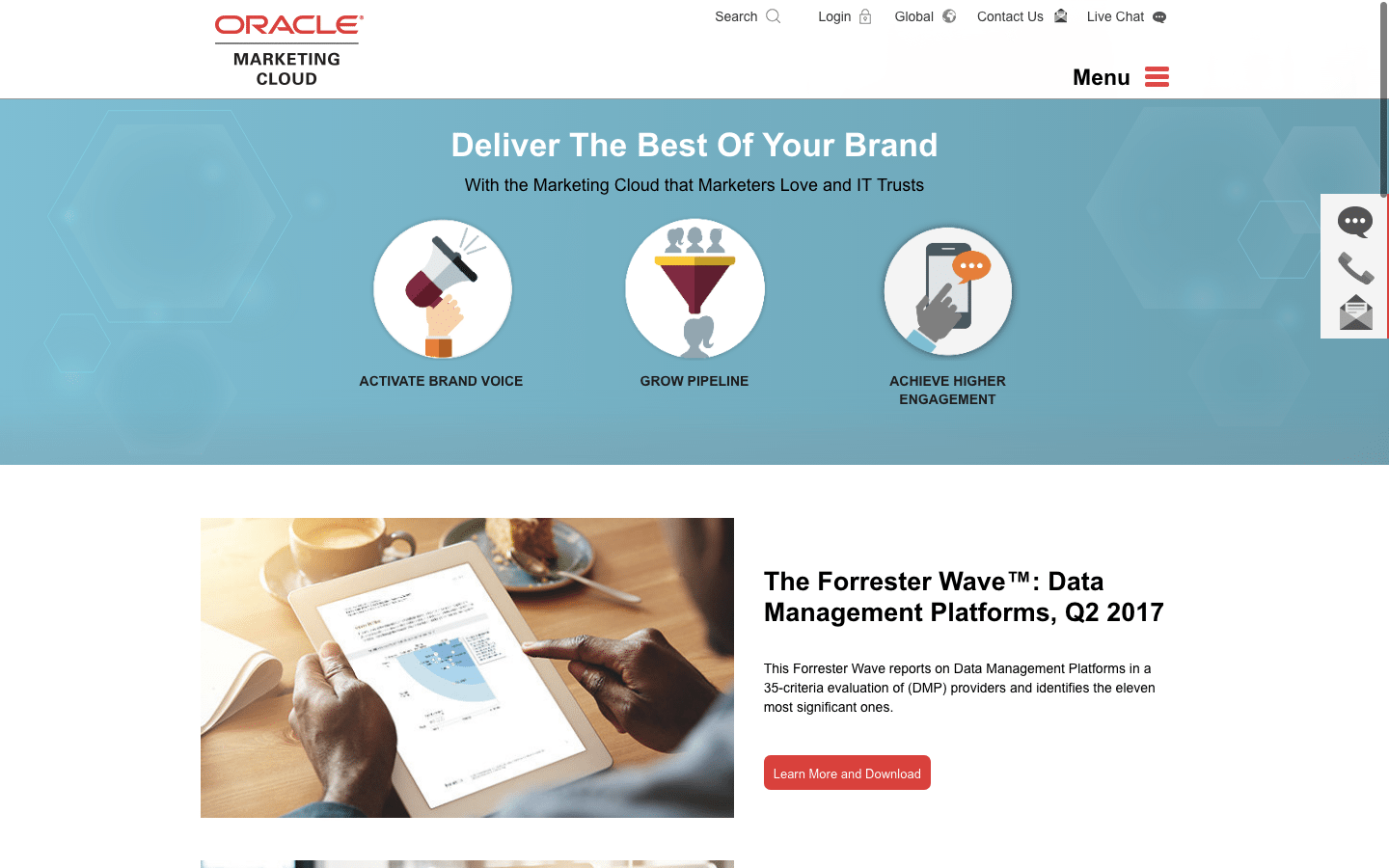 Oracle Marketing Cloud for sales team