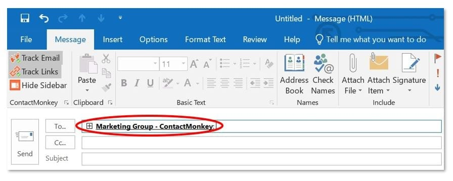 name Outlook Groups