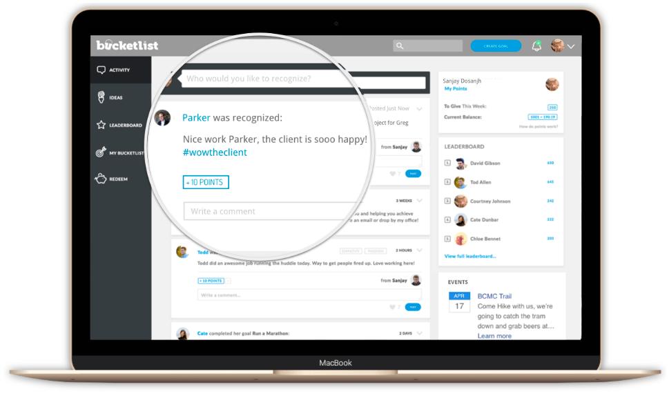 Bucketlist Employee Engagement Tool
