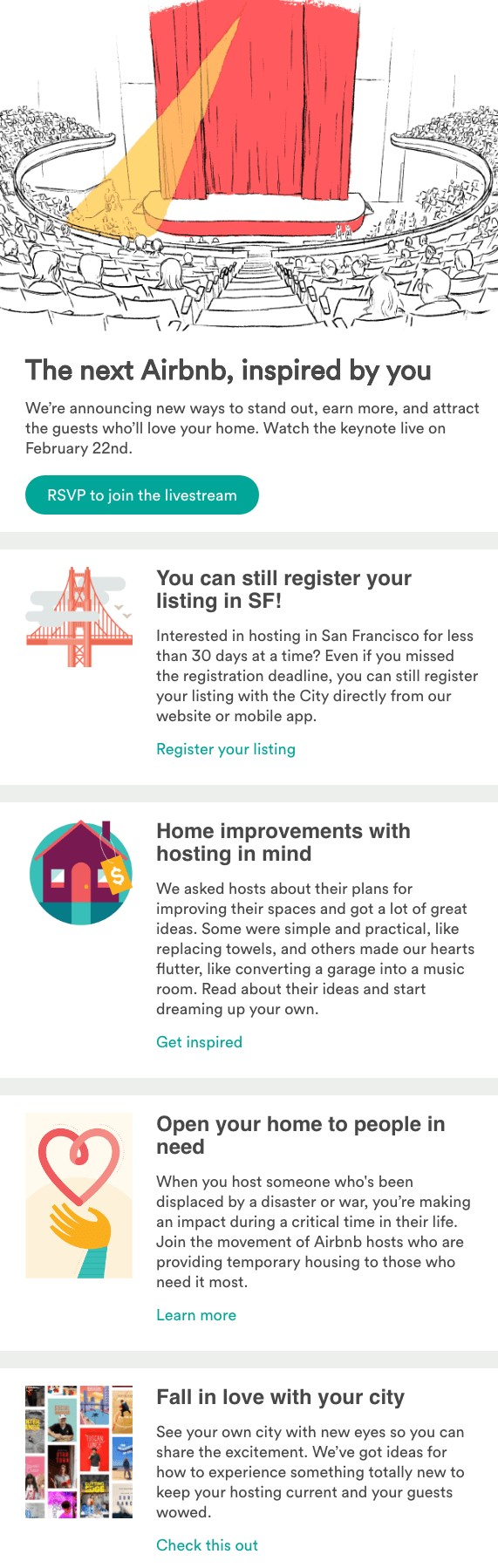 airbnb newsletter screenshot