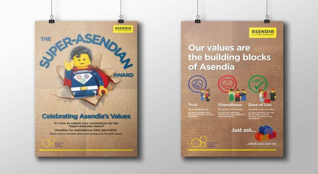 Asendia award and corporate values