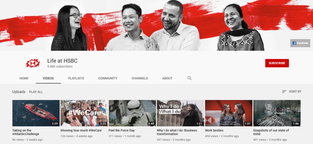 HSBC Youtube channel