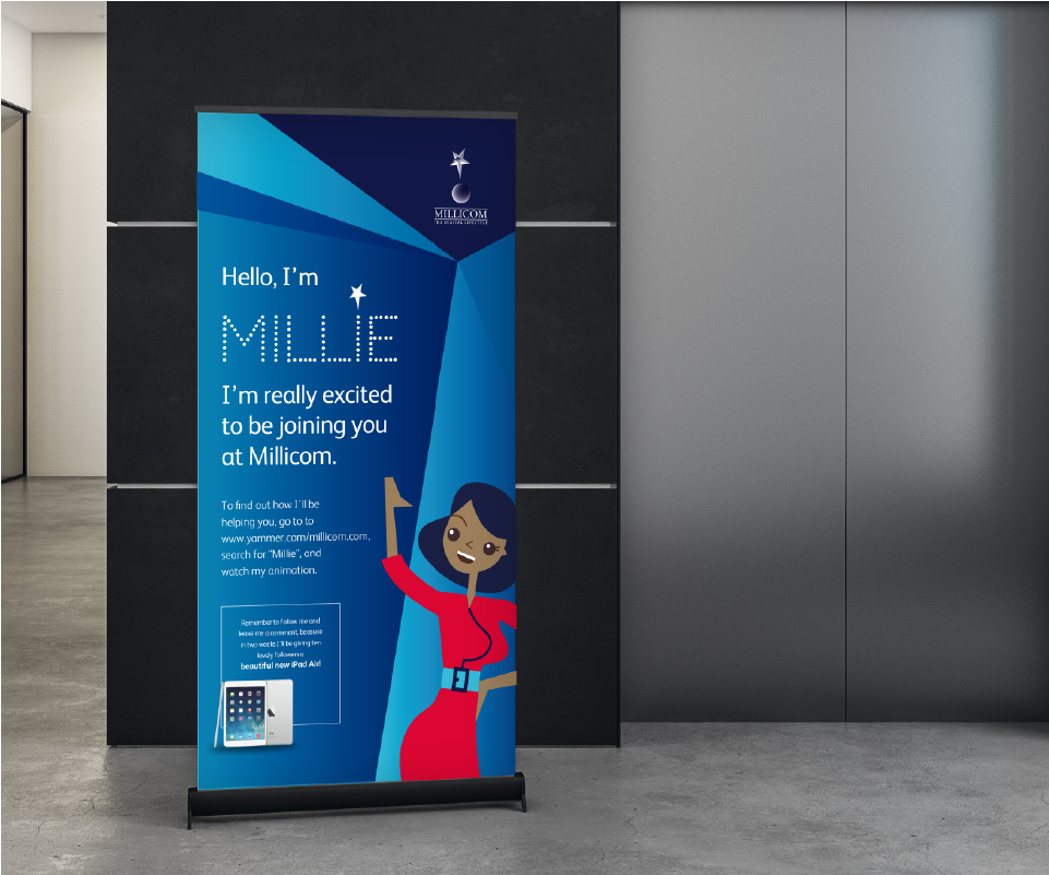 banner introducing Millie
