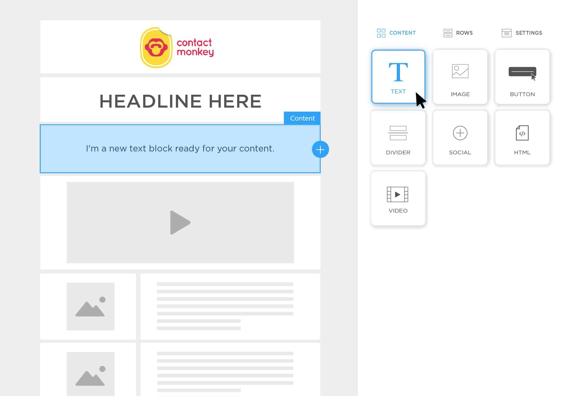 email template builder screenshot