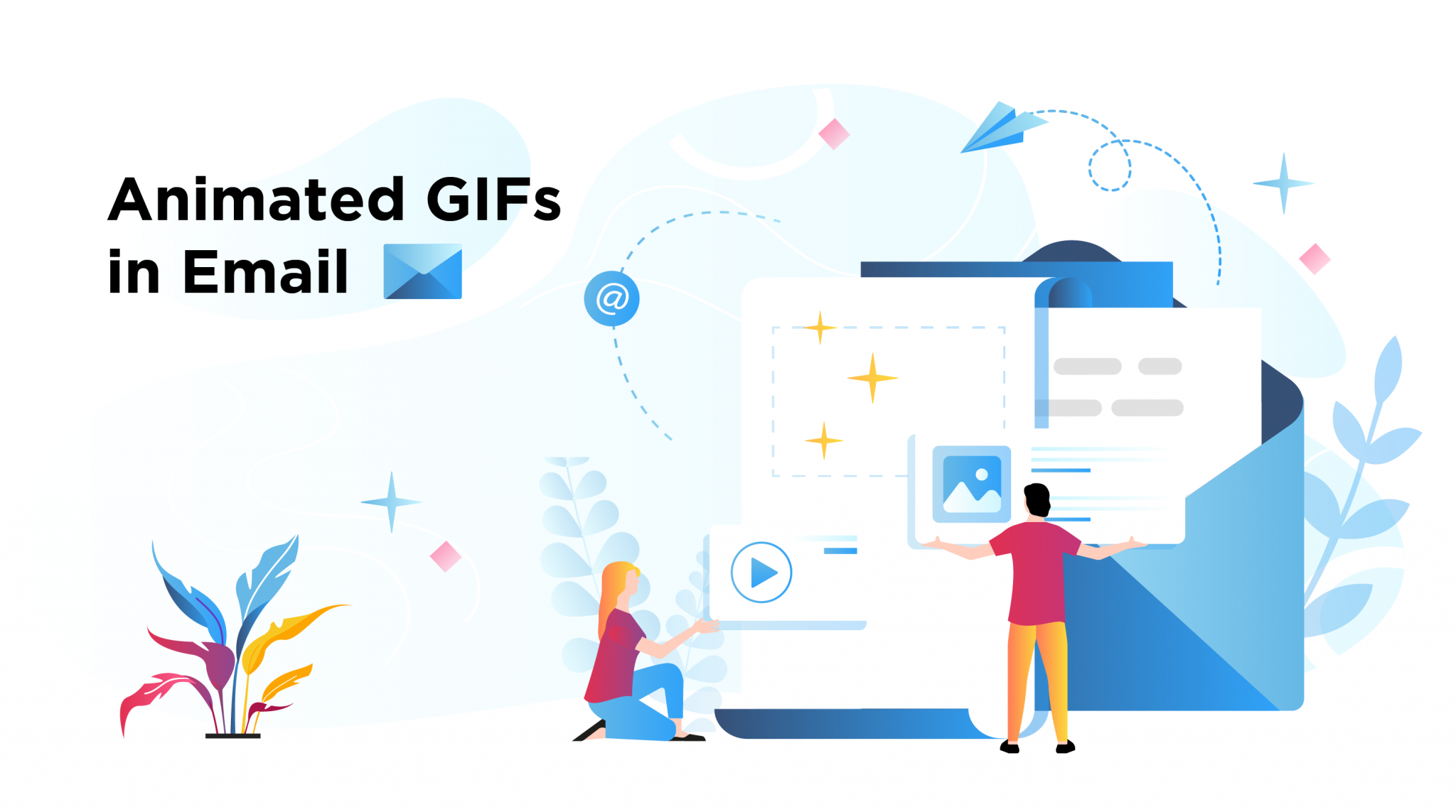 gifs in email header