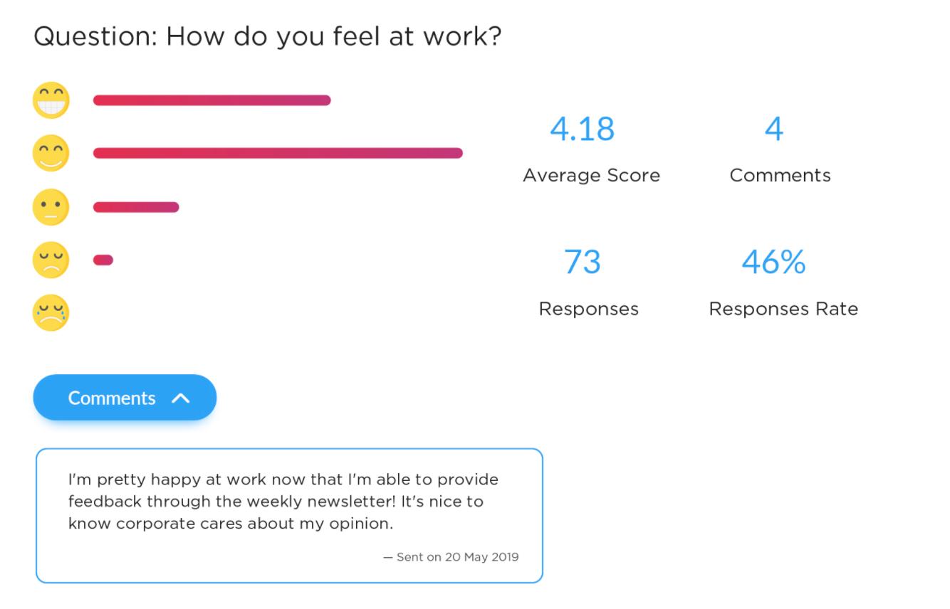 employee survey feedback example