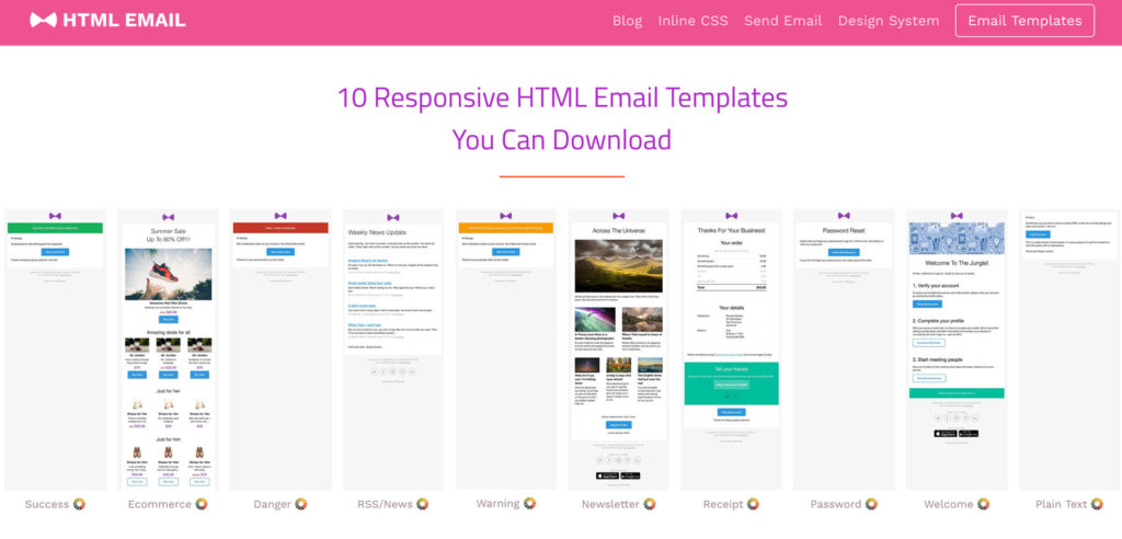 htmlemail.io templates